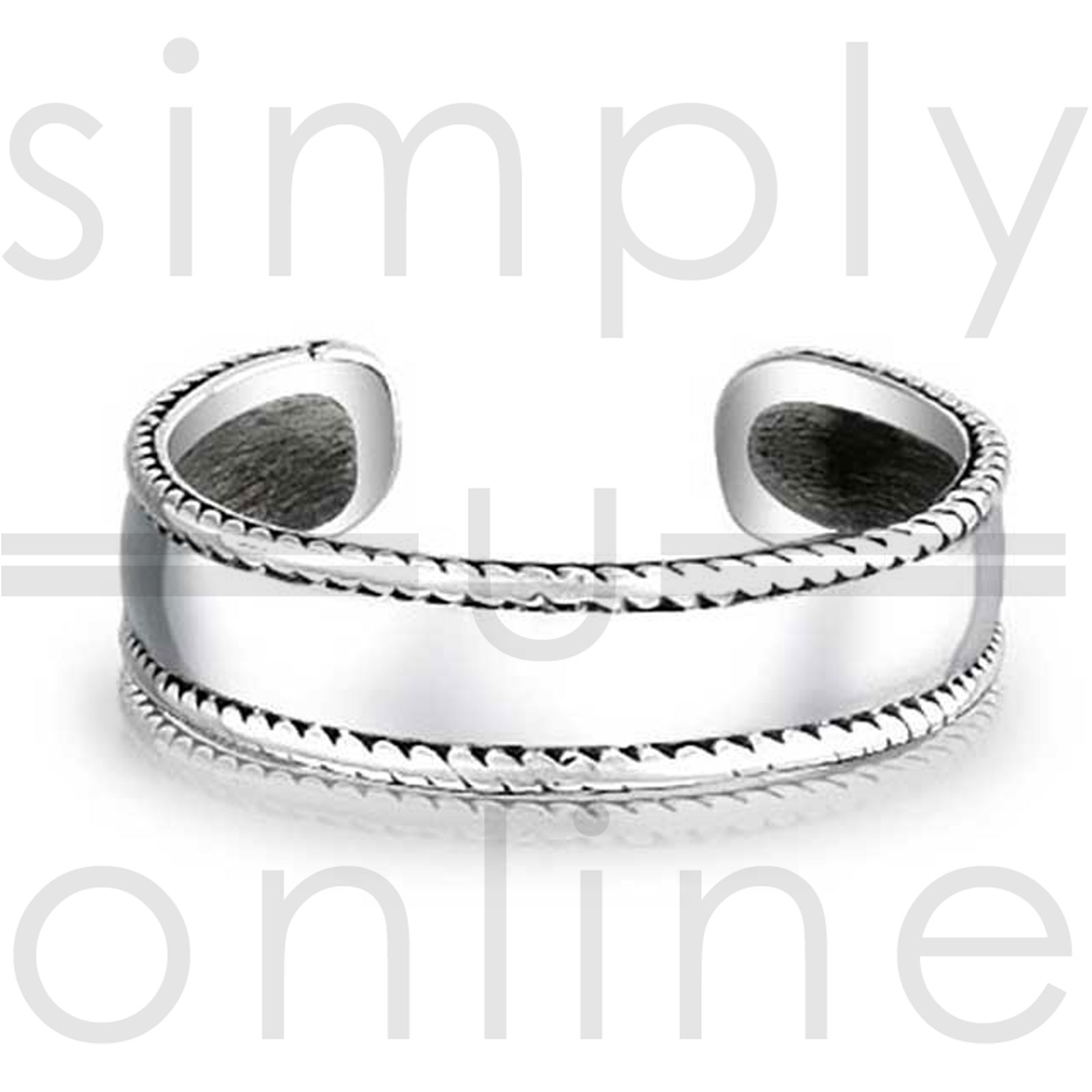 Bali Style Adjustable Toe Ring Sterling Silver Toe Ring