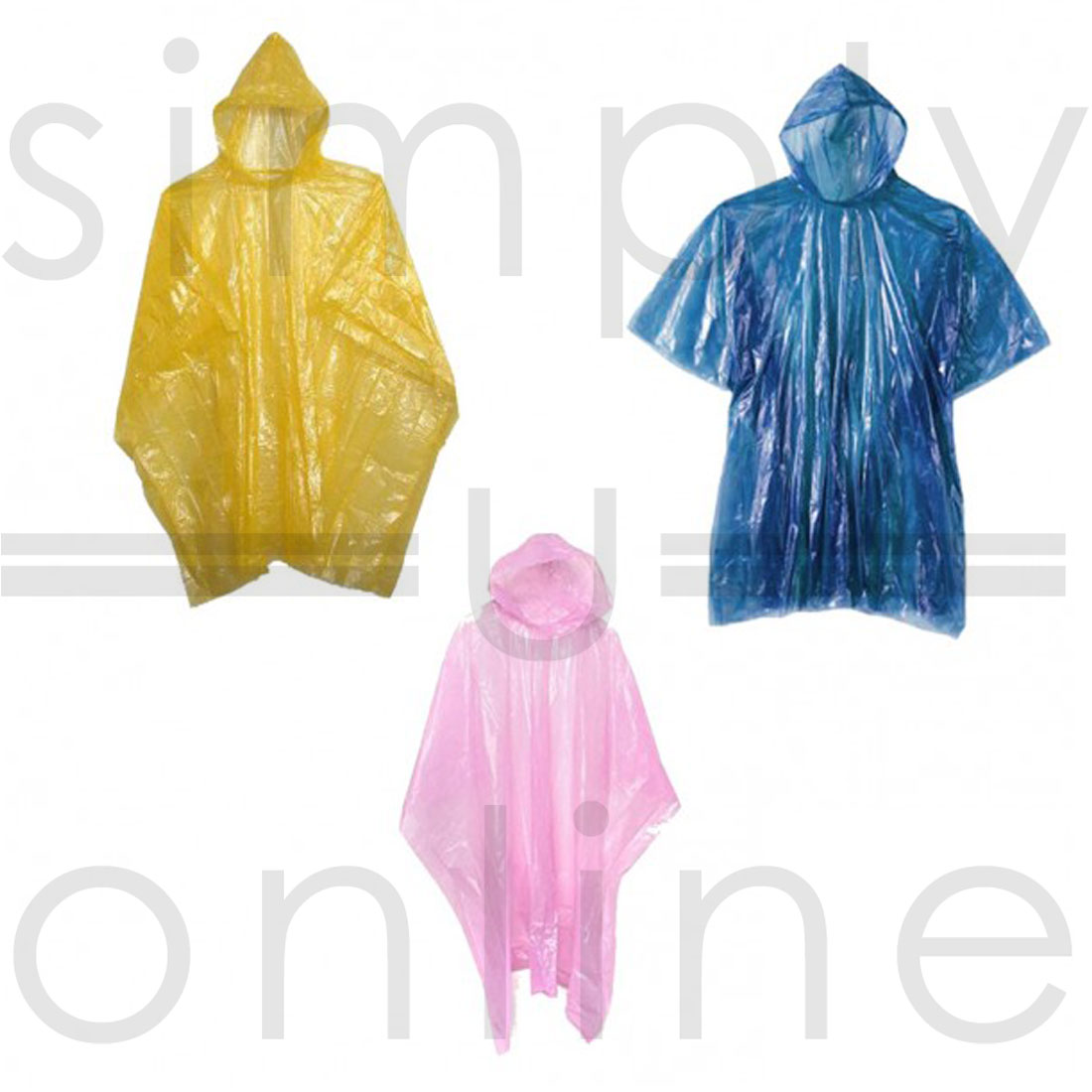 REUSABLE LIGHTWEIGHT WATERPROOF RAIN PONCHO FESTIVALS /& THEME PARKS CHILD YELLOW